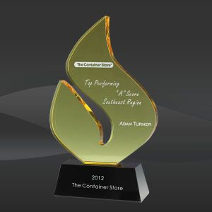 Amber Boomerang Flame Crystal Award (DMC-SCA235) pictures & photos