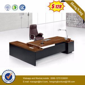 Side Extension Table Attached Walnut Melamine Office Desk (HX-5DE210) pictures & photos