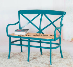 2 Seater Wood Cross Back Bench Chair (UF-204) pictures & photos