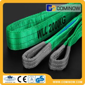 2ton Green Polyester Eye & Eye Webbing Slings for Safe Lifting with High Quality pictures & photos