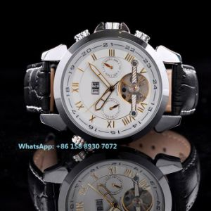 Excellent Automatic Men′s Watches with Genuine Leather Strap Fs612 pictures & photos