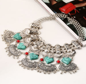 Fashion Retro Turquoise Tassel Collar Choker Necklace Jewelry pictures & photos