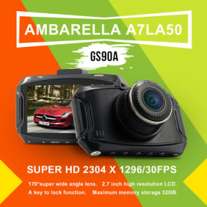"GS90A Car DVR GPS Module Ambarella A7la50 2.7"" 1296p HD 5MP 170 Degree Dash Cam Camera Recorder Vehicle Camcorder pictures & photos"