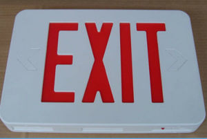 Red LED Emergency Exit Sign Light pictures & photos