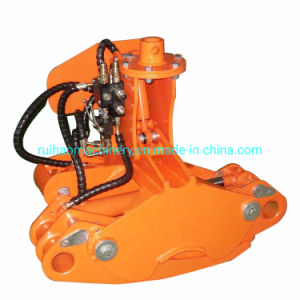 Hydraulic Wood Log Cutter Chipper Grab with Shear for Sale