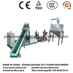Plastic Single Screw Extruder for Recycling Non-Printed Film Roller pictures & photos