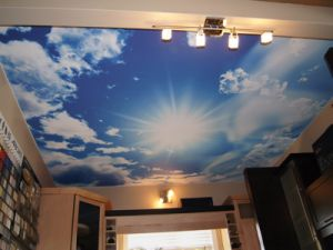 Transparent PVC Stretch Ceiling and Fabric Waterproof Printing Ceiling Film pictures & photos