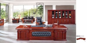 Executive Classic Veneer Wooden Manager Office Desk (FOHA-9B281) pictures & photos