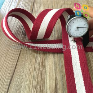 Eco-Friendly Woven Cotton Webbing Strap for Belt or Bag Accessories pictures & photos