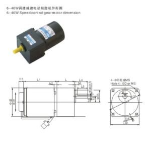 AC Gear Motor Speed Control Motors pictures & photos