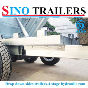Factory Direct Hydraulic Tipping Trailers with Drop Down Sides