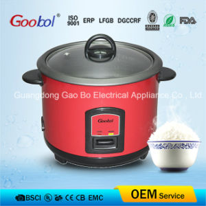 Glass Lid Nonstick Coating Red Colour Straight Rice Cooker 1.5L 1.8L 2.8L pictures & photos