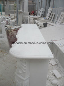 White Marble Fine Fireplace Mantel for Living Room pictures & photos