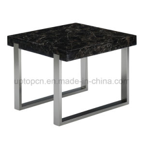 Modern Black Square Marble Restaurant Table for Cafe (SP-GT439) pictures & photos