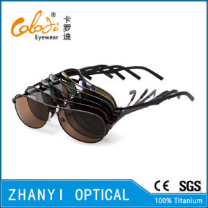 New Arrival Titanium Sun Glasses for Driving with Polaroid Lense (T3026-C5) pictures & photos