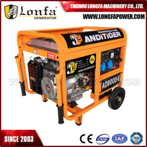 6.5/ 7.0kVA Electric Power Portable Prtrol Gasoline Generator with Handle and Wheels pictures & photos