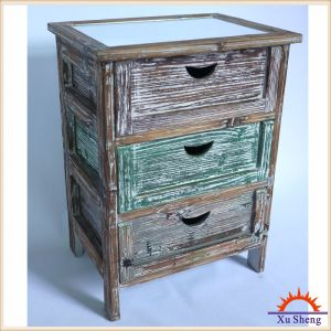 3 Drawer Storage Cabinet with Woodcolored Style pictures & photos