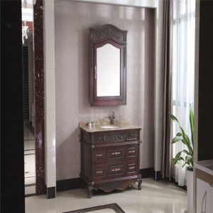 Antique Style Oak Wood Sanitary Ware Bathroom Vanity pictures & photos