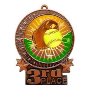 Customized Brass Printed Honor Softball Medal pictures & photos