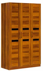 3 Doors Simple Style Wardrobe Solid Wood Wardrobe for Bedroom Furniture pictures & photos
