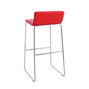 Modern Red High Soft Bar Chair with Metal Leg (SP-HBC246) pictures & photos