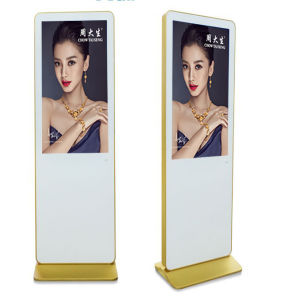 32 Inch Floor Stand Double Sided LCD Display Screen with Wheels (MW-321ATN) pictures & photos