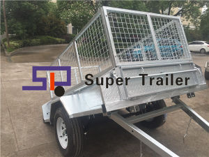 6X4/7X4/7X5/8X5FT Fully Welded Galvanized Tilt Trailer