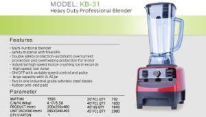 Hot Sale 2L Heavy Duty Professional Blender, Food Processor pictures & photos