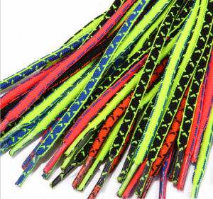 OEM High Quality Colorful Polyester Shoelace for Promotion pictures & photos