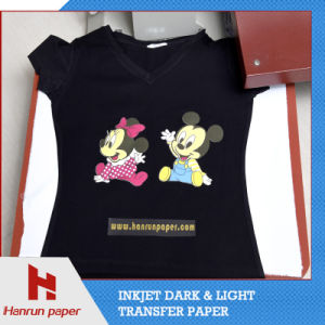 Good Color, Flexible Dark T-Shirt Inkjet PU Transfer Paper for 100% Cotton T-Shirt pictures & photos