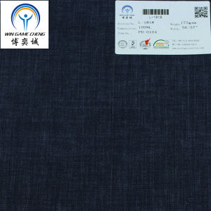 14*14 Plain Dyed Pure Linen Fabric pictures & photos