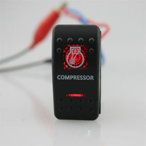 Auto Car Bike Red Compressor Light Switch Button pictures & photos