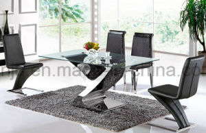Living Room Furniture Special Design Glass Dining Table (A6033#) pictures & photos