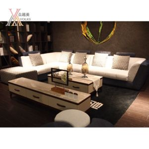 Fabric Modern Fashion Living Room Sofa with Cushion (929B) pictures & photos