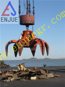 Electric Hydraulic Orange Peel Scrap Grab for Garbage Scrap Orange Peel Grab for Steel Scrap pictures & photos