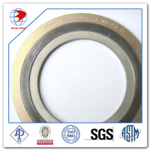 1 Inch Gasket, 300lb RF 4.5 mm THK, AISI 316 Spiral Wound/ Graphite with Outer Ring, AISI B16.33 pictures & photos