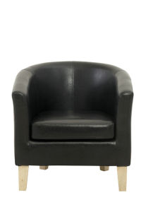 Black PU Accent Chairs with Wood Frame pictures & photos