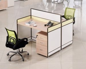 2 Seats Straight Desk Workstation Cluster Staff Office Partition (HX-NCD087) pictures & photos