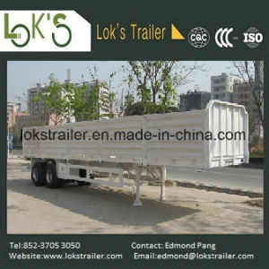 40 Feet 2 Axles Soil Drop Side Trailer pictures & photos