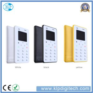 New Colorful Ultra Thin Card Phone X6 Mini Card Phone 4.8mm with Arabic Keypad Pocket Credit Card Phone pictures & photos