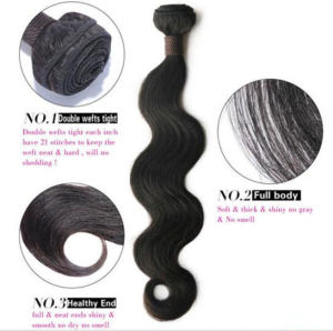 Unprocessed Brazilian Virgin Human Hair Weaves pictures & photos