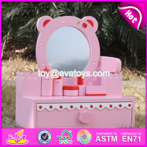 New Design Lovely Pink Girls Wooden Toy Dressing Table W08h077 pictures & photos