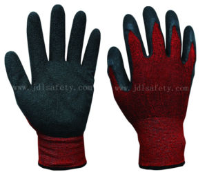 Latex Coated Work Glove of Cotton and Spandex Shell (L3020) pictures & photos