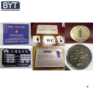 Bytcnc-20 Nameplate Etch Iron Brass Stainless Steel Metal Etching Machine pictures & photos
