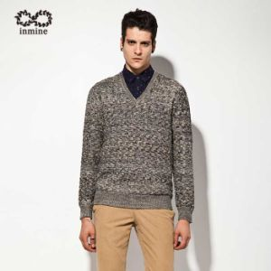Wool Acrylic Factory Fancy Yarn Pullover Man Sweater pictures & photos