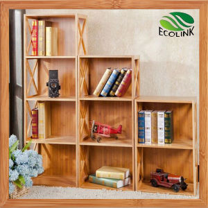 Tiers Bamboo Rack Storage Shelf for Book pictures & photos