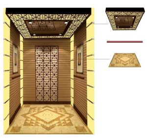1600kg for 23 Persons Passenger Lift with Golden Mirror Finish pictures & photos