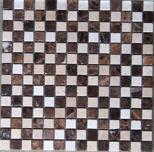 Mosaic Tile Dark Emperador Stone Marble Mosaic (HSM119) pictures & photos