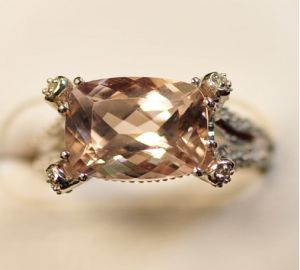 925 Silver Ring with Morganite (LMO1007) pictures & photos
