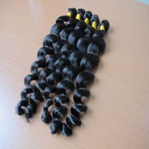 8A Loose Wave Natural Brazilian Black Hair Weaving pictures & photos
